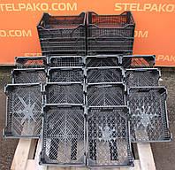 Ящик пластиковий перфорований для овочів, фруктів і ягід, 40х30х15 див., Б/в, фото 1