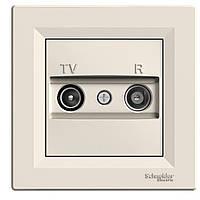 TV/R РОЗЕТКА 8dB ПРОХІДНА КРЕМ ASFORA