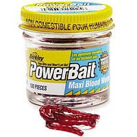 Приманка Berkley Gulp! Power Blood Worm 150шт Мотыль маленький (1079210)
