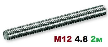 Шпилька резьбовая М12 4.8 2000мм
