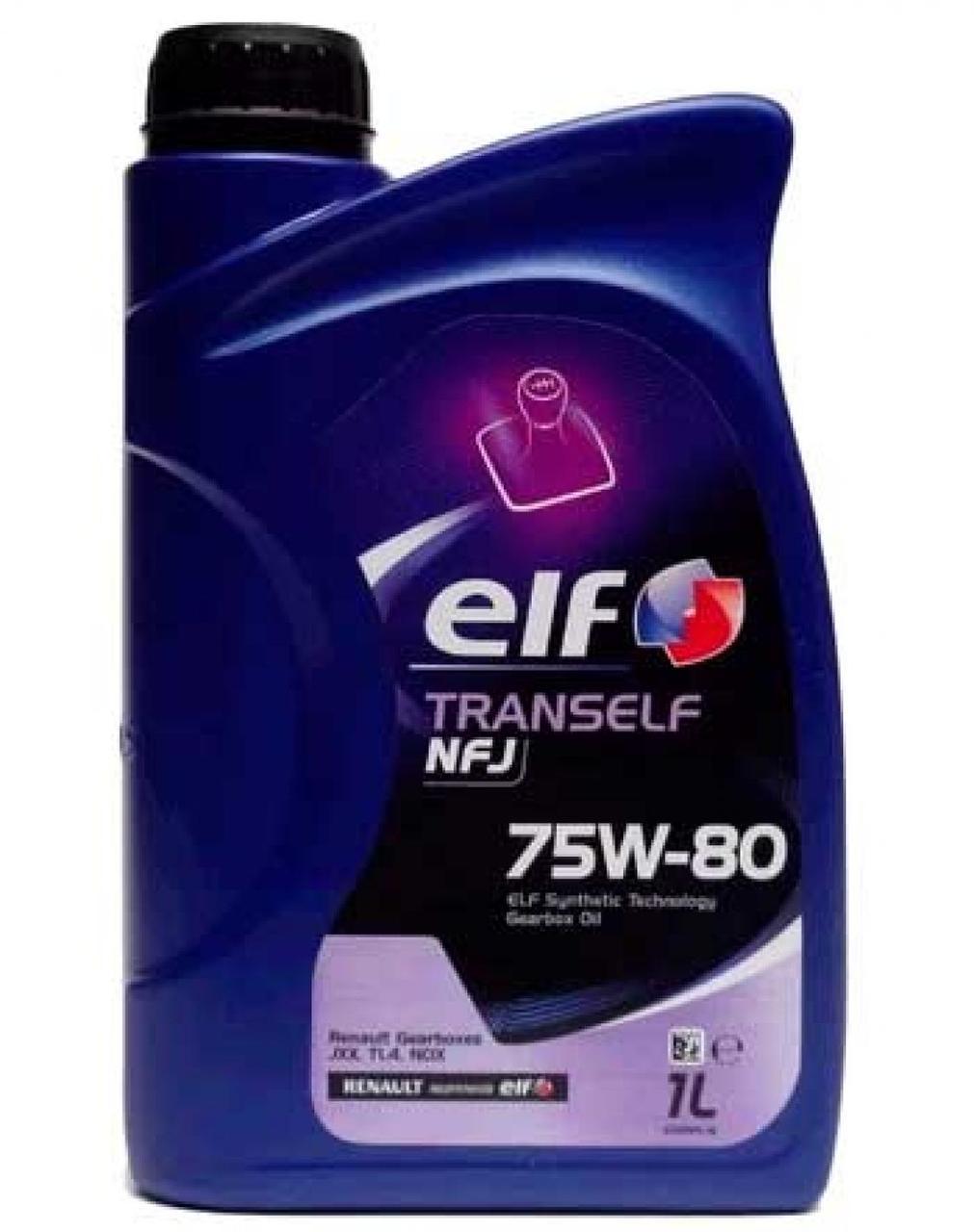Масло трансмиссионное, 1л (75W-80, TRANSELF NFJ) ELF (#GPL)