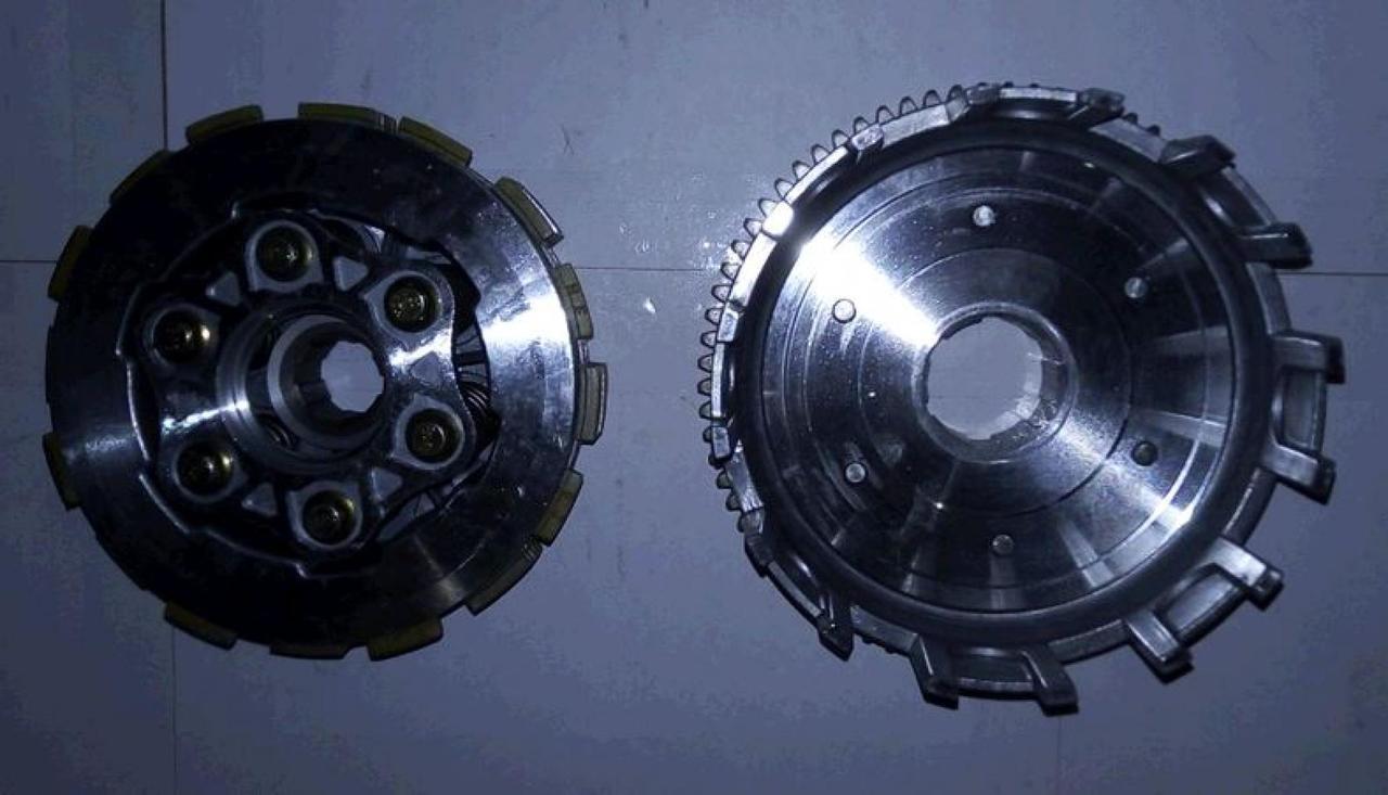 Корзина сцепления (в сборе) 4T на Китайский Мотоцикл CG 4Т 4-х тактный 150 (расширенная) JH