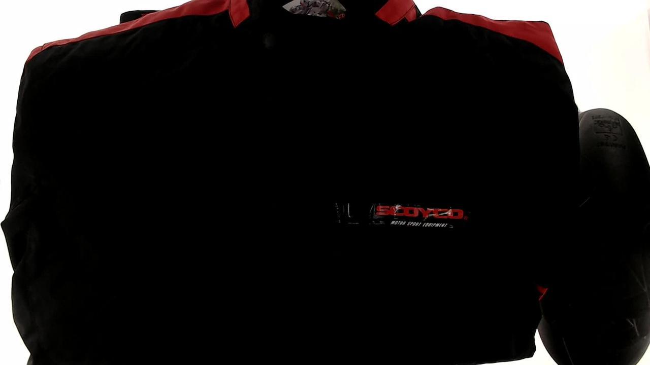 Мотокуртка SCOYCO (текстиль) (Размер:XXL, черно-красная, mod:JK34)