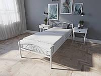Кровать MELBI Элис Люкс Односпальная 90х200 см Белый, КОД: 1389424