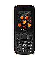 Телефон кнопочный на 2 сим карты с фонариком Sigma X-Style 17 Update черно-оранжевый