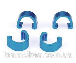 Крепеж гидролинии noname - Алюминий Синий