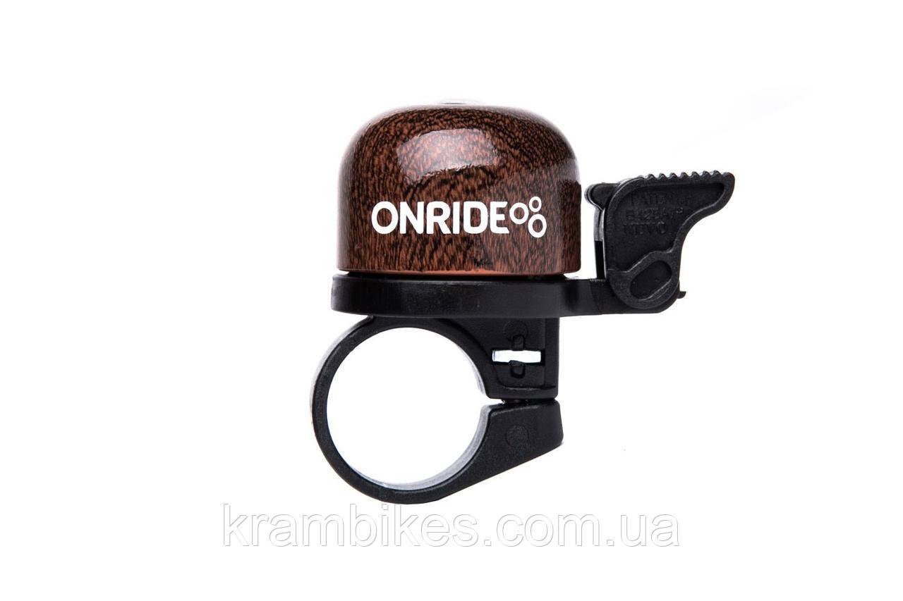 Звонок на руль Onride - Note 22.2мм Коричневый