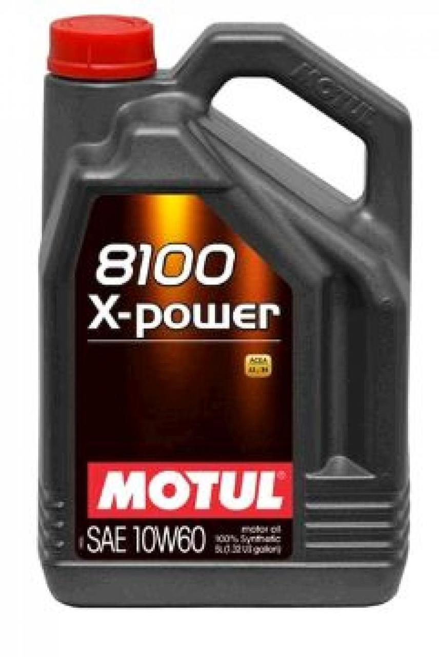 Масло автомобильное, 5л (синтетика, 10W-60, 8100 X-POWER) MOTUL (#106144)