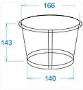 Картонный стакан 2,5 Л светлый, фото 2