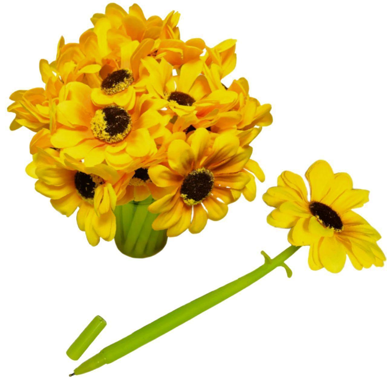 Ручка-цветочек ПОДСОЛНУХ
