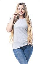 Стильная меланжевая женская футболка