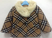 Пальто для девочек под Burberry