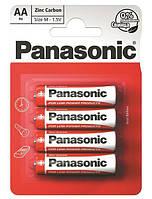 Батарейка Panasonic RED ZINK AA (R6) BLI 4 ZINK-CARBON (R6REL/4BPR)