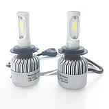 Светодиодная LED лампа головного света H4 COB 8000Lm 36Watt, фото 5