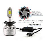 Светодиодная LED лампа головного света H4 COB 8000Lm 36Watt, фото 7