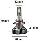 Светодиодная LED лампа головного света H1 Epistar V3C COB 8000Lm 36Watt, фото 4