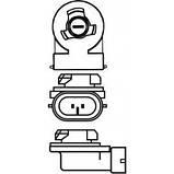 Светодиодная LED лампа головного света H27 880/881 Epistar C3 3200Lm 25Watt, фото 2