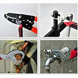 Универсальный гаечный разводной ключ 2 шт. Для сантехников, авто, инженеров Snap N Grip , фото 5