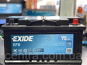 Автомобильный аккумулятор EXIDE EFB EL752  75Ah R+