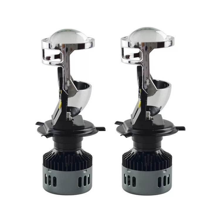 Светодиодные LED линзы формата mini Н4 96W 8400Lm (линзы H4 LED)