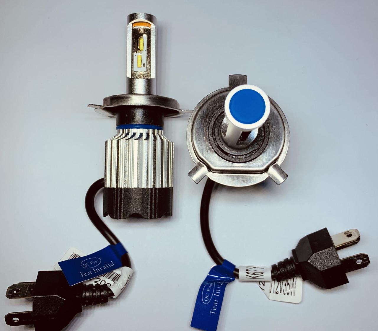 LED лампы в головной свет светодиодные H4 KT CSP 8000Lm 70Watt