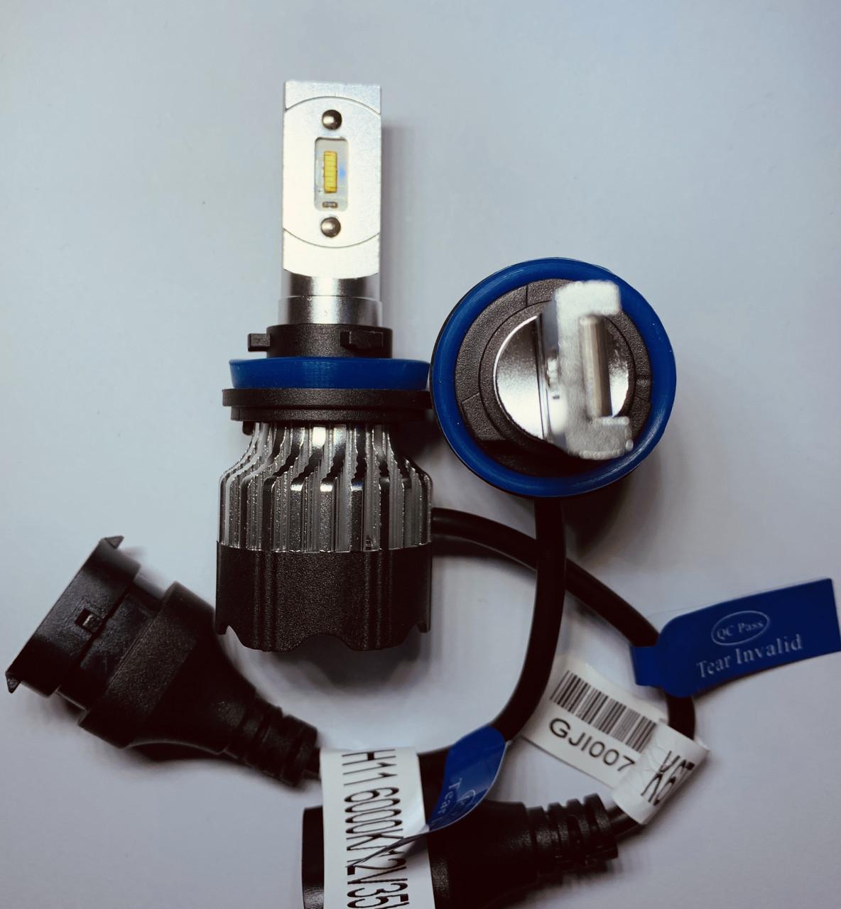 Светодиодные LED лампы головного света  KT CSP 8000Lm 70Watt (Цоколь H11)