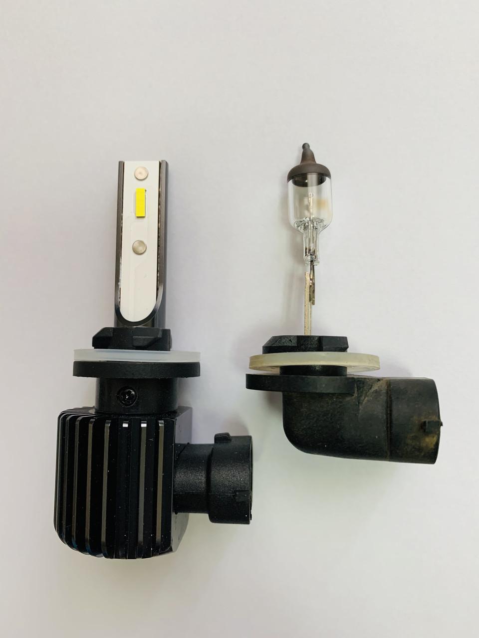 Светодиодные LED лампы головного света EF CSP 8000Lm 50Watt (Цоколь  H27 (880/881))