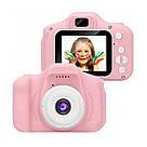 Детский фотоаппарат GM14 с шаблонами рамок и играми розовый (GS001GM14P), фото 3
