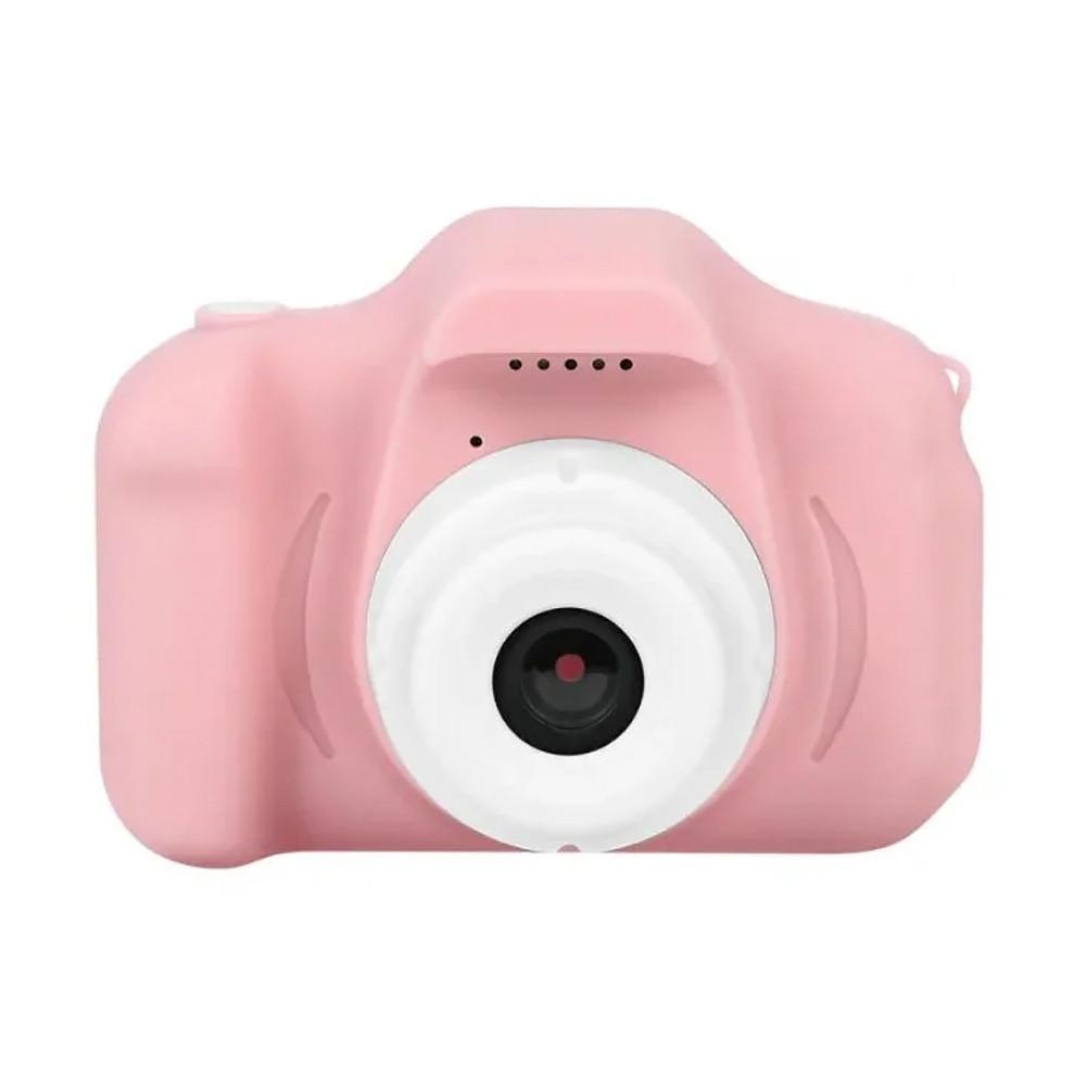 Детский фотоаппарат GM14 с шаблонами рамок и играми розовый (GS001GM14P)