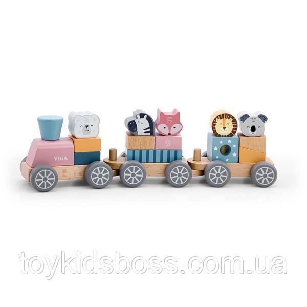 Игрушка Viga Toys PolarB Поезд с животными (44015)
