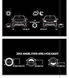 Противотуманные LED ЛЕД  фары + DRL Cree chips + Angel Eyes FOGDRL002, фото 8