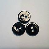 Пуговица рубашечная из натурального перламутра, черная, 11 мм диаметр, фото 3