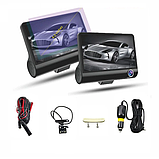 Видеорегистратор DVR 3CFHD 3 камеры с картой памяти 32Gb Full HD 1080P штатная установка задней камеры, фото 2