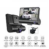 Видеорегистратор DVR 3CFHD 3 камеры с картой памяти 32Gb Full HD 1080P штатная установка задней камеры, фото 5