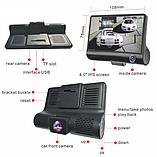 Видеорегистратор DVR 3CFHD 3 камеры с картой памяти 32Gb Full HD 1080P штатная установка задней камеры, фото 6