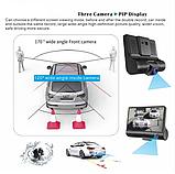 Видеорегистратор DVR 3CFHD 3 камеры с картой памяти 32Gb Full HD 1080P штатная установка задней камеры, фото 7