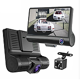 Видеорегистратор DVR 3CFHD 3 камеры с картой памяти 32Gb Full HD 1080P штатная установка задней камеры, фото 8
