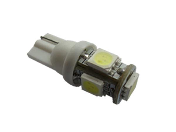Автомобильные светодиодные лампы AutoApp. Светодиодная лампа 446 T10 5 leds 5050SMD