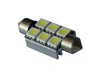 Автомобильные светодиодные лампы AutoApp Светодиодная лампа 449 Canbus Festoon 6leds 5050SMD с радиатором