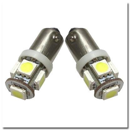 Автомобильные светодиодные лампы AutoApp. Светодиодная лампа повышенной мощности 459 T4 BA9s 5leds 5050SMD
