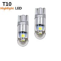 Автомобильные светодиодные лампы AutoApp. Светодиодная лампа повышенной мощности 480 T10  3SMD/300LM 1,5W 6000K