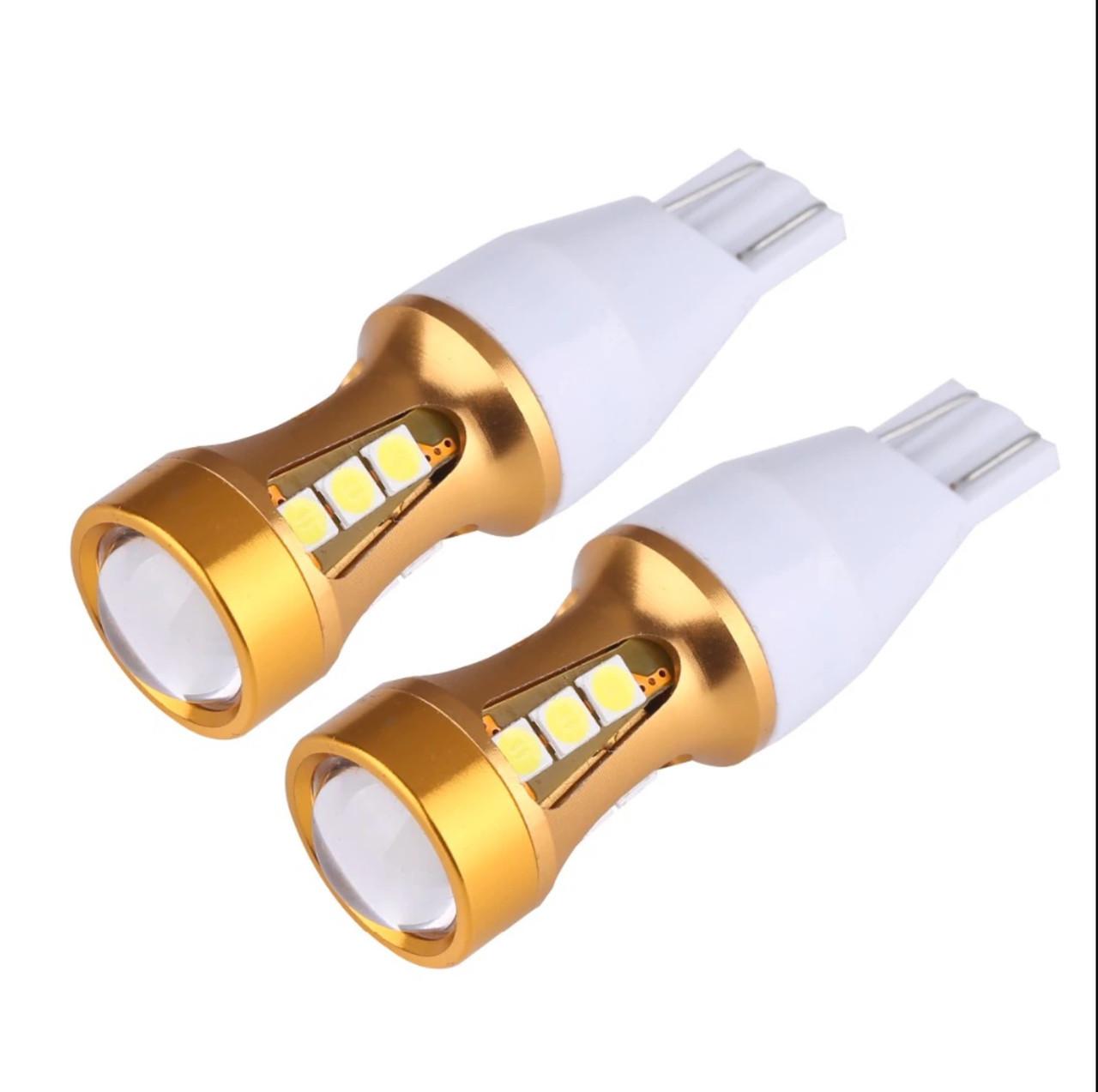 Автомобильные светодиодные лампы AutoApp. Светодиодная лампа повышенной мощности 488 T10 15 led with lens Canbus