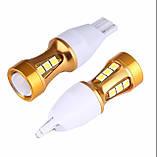 Автомобильные светодиодные лампы AutoApp. Светодиодная лампа повышенной мощности 488 T10 15 led with lens Canbus, фото 3