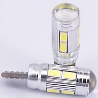 Автомобильные светодиодные лампы AutoApp. Светодиодная лампа повышенной мощности 487 T10  10SMD/300LM 1,5W 6000K