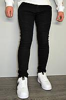 Джинсы мужские черные, зауженные, однотонные(размеры 29,30,33,34), фото 1