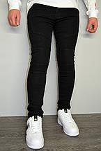 Джинсы мужские черные, зауженные, однотонные(размеры 29,30,33,34)