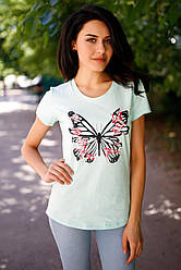 Футболка Butterfly с коротким рукавом и принтом
