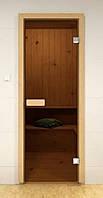 Стеклянные двери для сауны и бани Pal 80x210 (бронза)