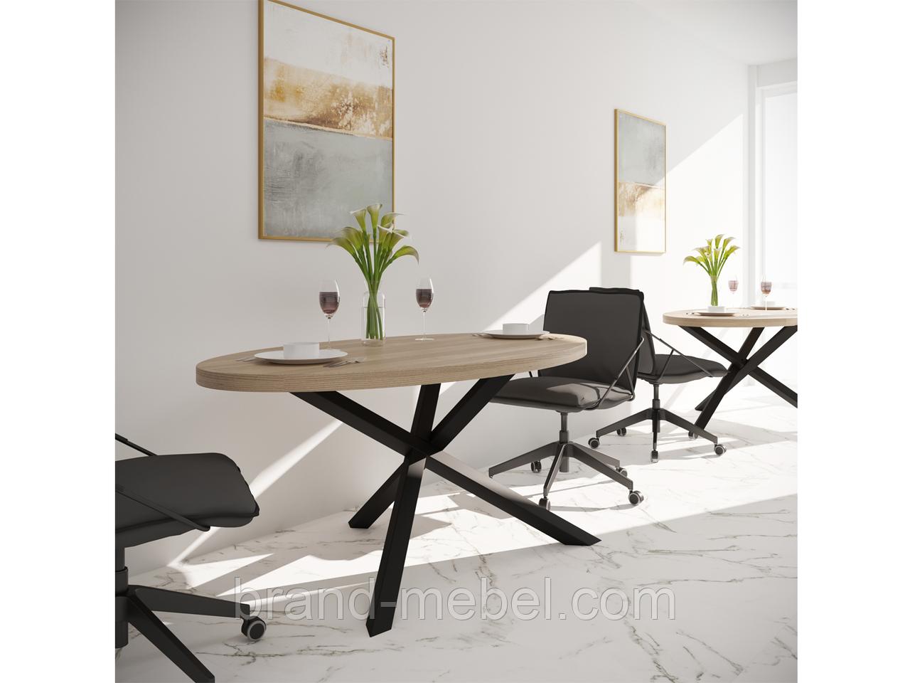 Стіл обідній Айрон (стол обеденный) в стилі Лофт Loft