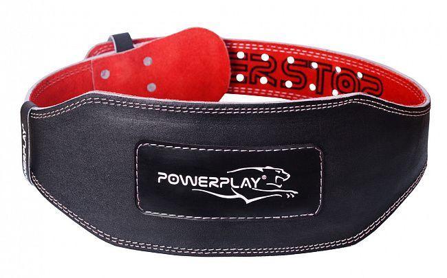 Пояс Power Play для важкої атлетики 5085, р.XL, чорно-червоний